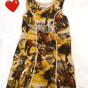 3T Country Cowgirl Dress Horses in the Wild West